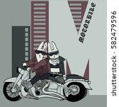 vector illustration of biker... | Shutterstock .eps vector #582479596