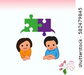 group of people icon  friends... | Shutterstock .eps vector #582479845
