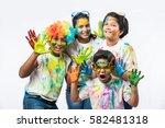 5 indian small kids   friends   ... | Shutterstock . vector #582481318