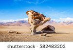Small photo of The famous Stone Tree in the Siloli desert - Southern Altiplano, Bolivia