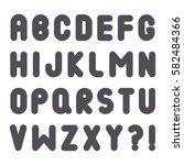 bubble font. vector alphabet... | Shutterstock .eps vector #582484366