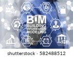 bim building information... | Shutterstock . vector #582488512