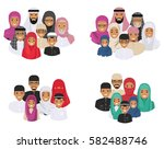 family concept. arab people... | Shutterstock .eps vector #582488746
