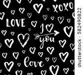 vector fashion seamless pattern ... | Shutterstock .eps vector #582490822
