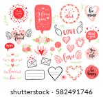 vector hand drawn fashion... | Shutterstock .eps vector #582491746