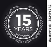15 years anniversary badge ... | Shutterstock .eps vector #582496372