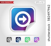 colored icon or button of right ... | Shutterstock .eps vector #582497962