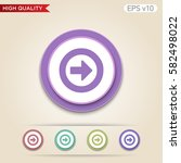 colored icon or button of right ... | Shutterstock .eps vector #582498022