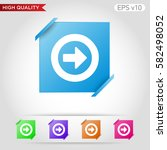 colored icon or button of right ... | Shutterstock .eps vector #582498052