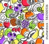 seamless pattern of linear... | Shutterstock .eps vector #582500536