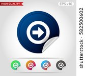 colored icon or button of right ... | Shutterstock .eps vector #582500602