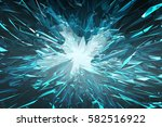 blue glass crystal abstract... | Shutterstock . vector #582516922