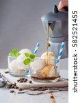 Vanilla Ice Cream And Coffee...