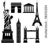 famous landmarks | Shutterstock .eps vector #58252204