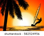 summer holiday  illustration | Shutterstock . vector #582524956