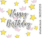 happy birthday card ... | Shutterstock .eps vector #582529255