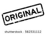 grunge black original square... | Shutterstock .eps vector #582531112