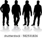black silhouette of a man. | Shutterstock .eps vector #582531826