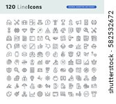 set of premium concept icons... | Shutterstock .eps vector #582532672