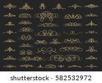 vintage decor elements and... | Shutterstock . vector #582532972