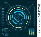 futuristic blue user interface...