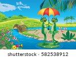 vector illustration of two... | Shutterstock .eps vector #582538912