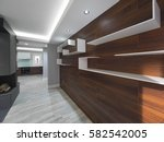modern interior wall design | Shutterstock . vector #582542005