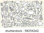 notebook doodle clip art design ... | Shutterstock .eps vector #58254262