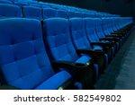 Empty Blue Cinema Seats  Chair...