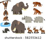 Southeast Asian Animals Vector...