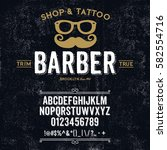 typeface. label. barber shop... | Shutterstock .eps vector #582554716