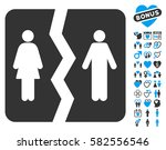 divorce pictograph with bonus... | Shutterstock .eps vector #582556546
