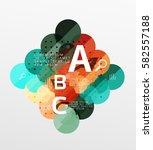 vector circle banner. vector... | Shutterstock .eps vector #582557188