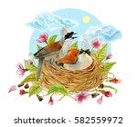 watercolor social illustration... | Shutterstock . vector #582559972