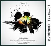 silhouette of dancing people   Shutterstock .eps vector #582561745