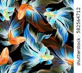watercolor seamless pattern... | Shutterstock . vector #582564712