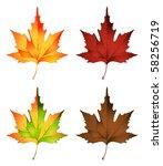 Vector Illustration Of Autumn...