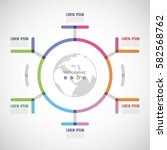 circle the infographic report... | Shutterstock .eps vector #582568762
