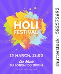 holi spring festival of colors... | Shutterstock .eps vector #582572692