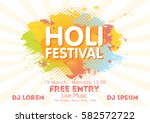 holi spring festival of colors... | Shutterstock .eps vector #582572722