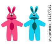 romper suit. rompers with ears. ...   Shutterstock .eps vector #582577252