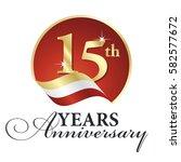 anniversary 15 th years... | Shutterstock .eps vector #582577672