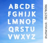 the english alphabet from... | Shutterstock . vector #582578086