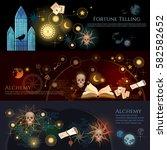 fortune telling banner.... | Shutterstock .eps vector #582582652