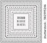 black grunge textured square... | Shutterstock . vector #582595246