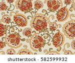 vintage floral seamless pattern.... | Shutterstock .eps vector #582599932