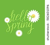 hello spring  modern hand drawn ... | Shutterstock .eps vector #582601096