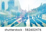 abstract crowd of people ... | Shutterstock . vector #582602476