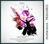 happy dancing people   Shutterstock .eps vector #582610822