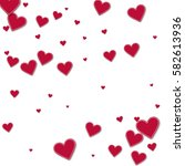cutout red paper hearts.... | Shutterstock .eps vector #582613936